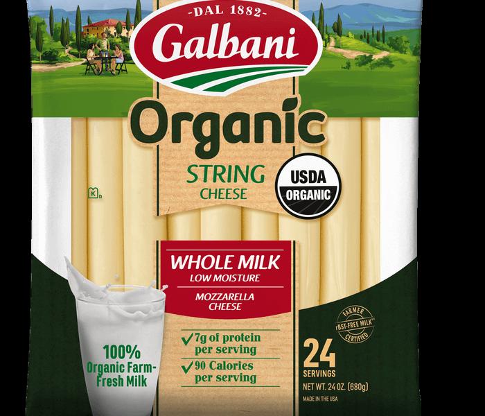 Organic Whole Milk Mozzarella String Cheese - Galbani Cheese