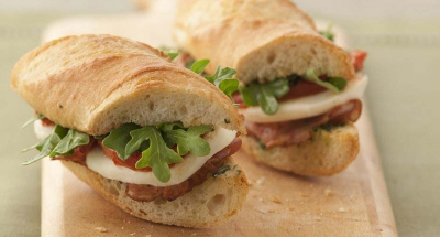 Pancetta Sandwich with Fresh Mozzarella - Galbani Cheese