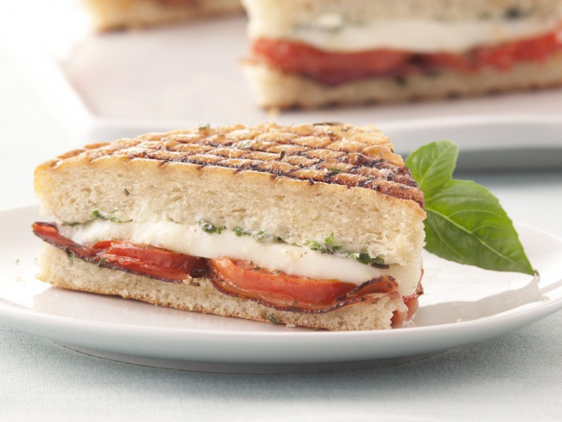 Panini with Prosciutto and Fresh Mozzarella - Galbani Cheese