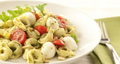 Pasta and Fresh Mozzarella with Pesto - Galbani Cheese