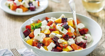 Peach and Beet Caprese - Galbani Cheese