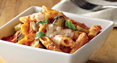 Penne Rigate with Ricotta, Mozzarella, and Eggplant - Galbani Cheese