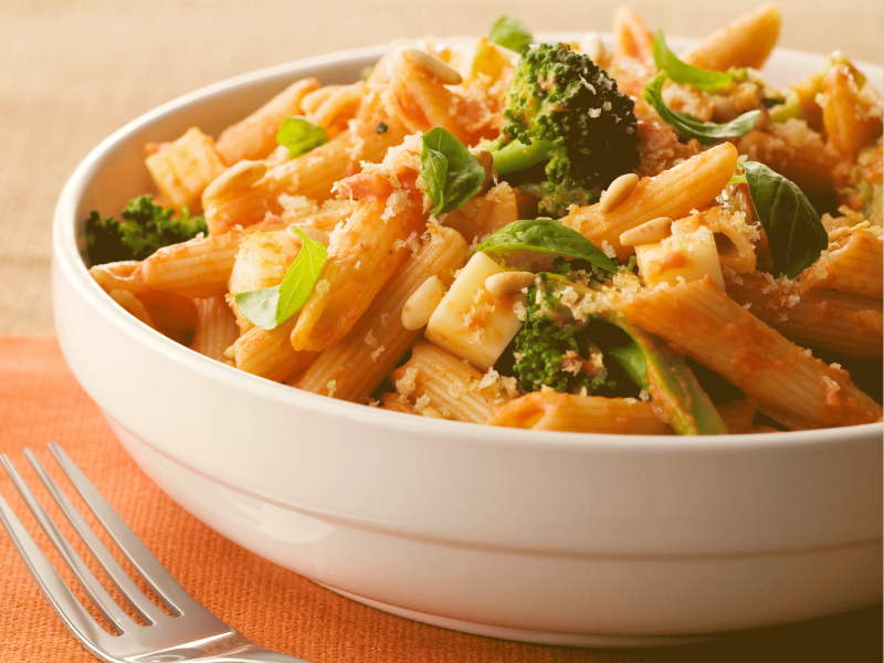 Penne Vodka with Broccoli - Galbani Cheese