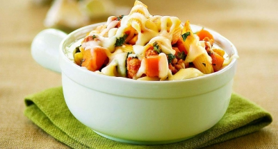 Penne with Sausage, Butternut Squash, and Kale - Galbani Cheese