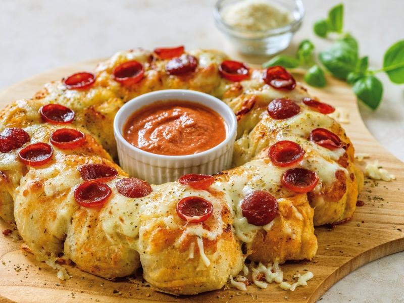 Pizza Pull Apart Bread - Galbani Cheese