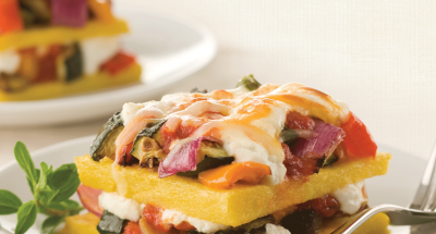 Polenta and Roasted Vegetable Lasagna - Galbani Cheese