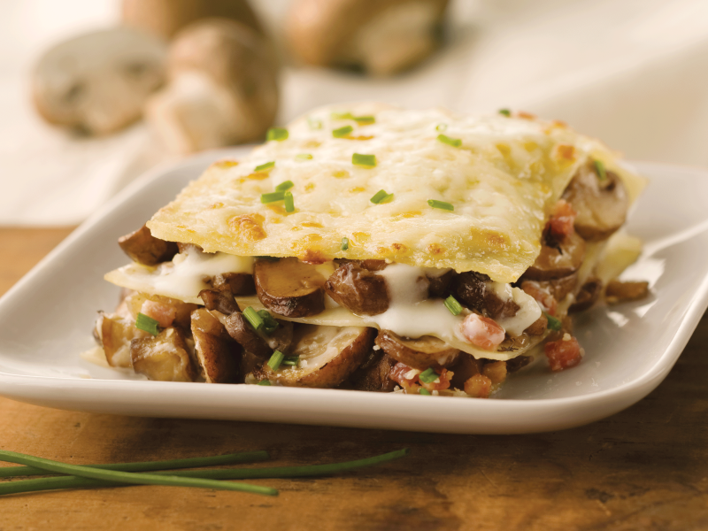 Portobello and Pancetta with Parmesan Lasagna - Galbani Cheese