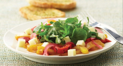 Mozzarella, Roasted Pepper, and Arugula Salad - Galbani Cheese