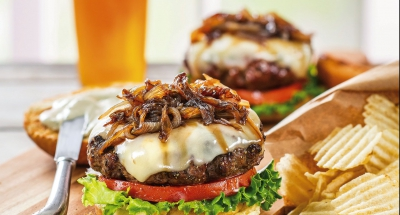 Galbani Asiago Cheeseburger with Basil Mayonnaise - Galbani Cheese