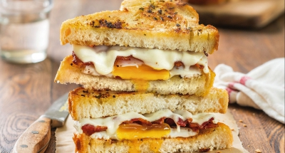 Herbed Butter Grilled Cheese with Fried Egg - Galbani Cheese