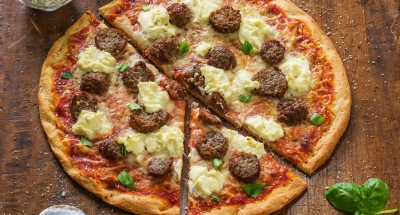 Meatball Parmigiana Pizza - Galbani Cheese