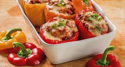 Lasagna Style Stuffed Peppers with a Twist - Galbani Cheese