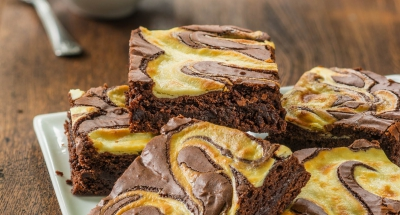Fudgy Brownies Swirled with Cheesecake - Galbani Cheese