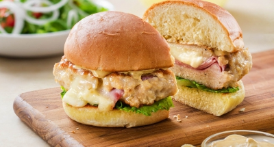Chicken Cordon Bleu Burger - Galbani Cheese