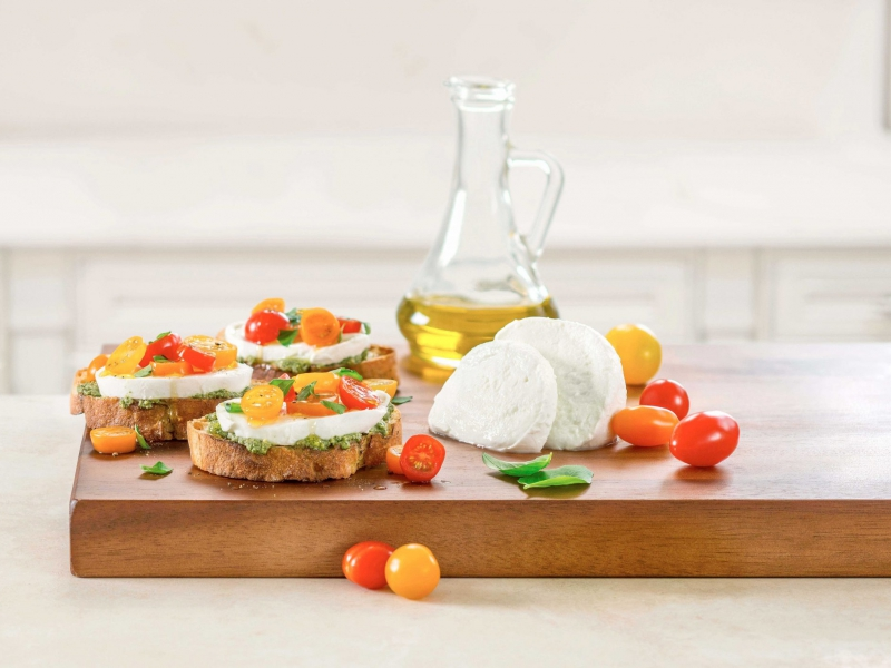 Fresh Mozzarella Grilled Crostini - Galbani Cheese