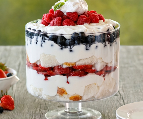 Red, White, and Blue Berry Trifle - Galbani Cheese