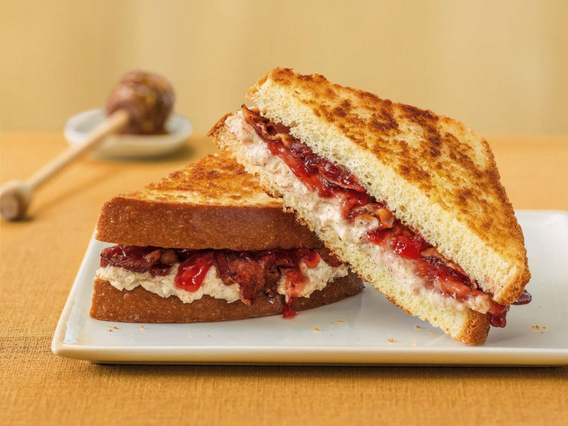 Ricotta Almond Butter and Jam Grilled Cheese - Galbani Cheese