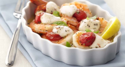Roasted Shrimp Caprese - Galbani Cheese