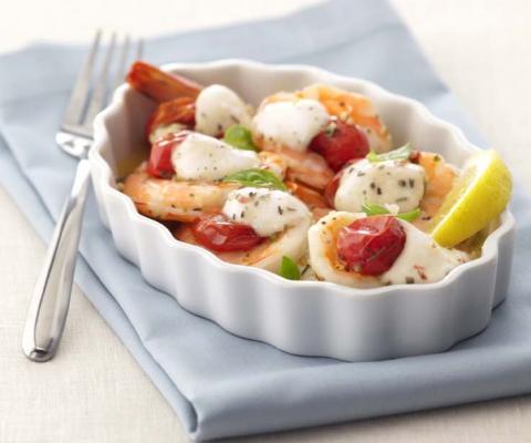 Roasted Shrimp Caprese - Galbani Cheese