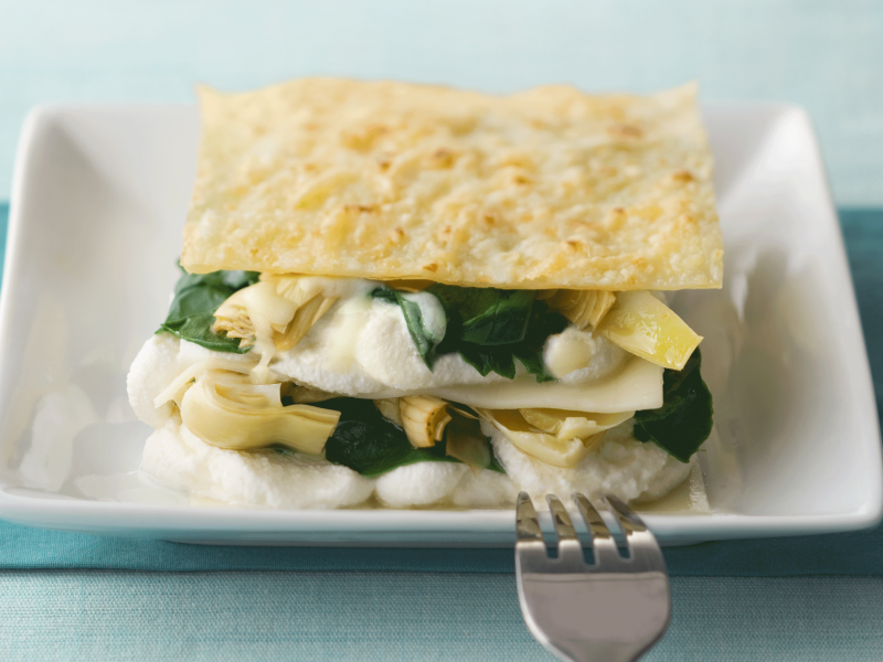 Spinach, Artichoke, and Ricotta Lasagna - Galbani Cheese