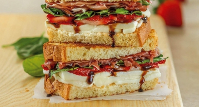 Strawberry Basil Prosciutto Grilled Cheese - Galbani Cheese