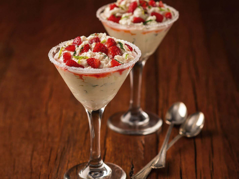 Strawberry Mojito Ricotta Parfait - Galbani Cheese