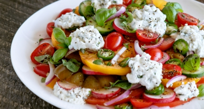 Heirloom Tomato Salad with Ricotta & Balsamic - Galbani Cheese