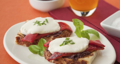 Tostini with Fresh Mozzarella and Tapenade - Galbani Cheese