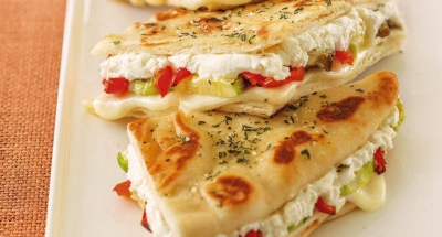 Veggie Pizza Grilled Cheese - Galbani Cheese