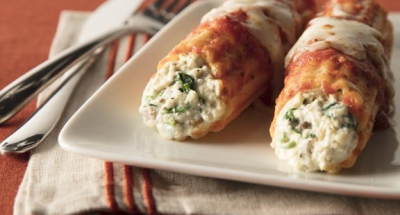 Spinach and Mushroom Manicotti - Galbani Cheese
