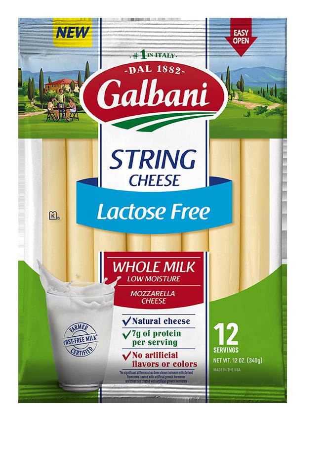 Lactose Free Mozzarella String Cheese - Galbani Cheese