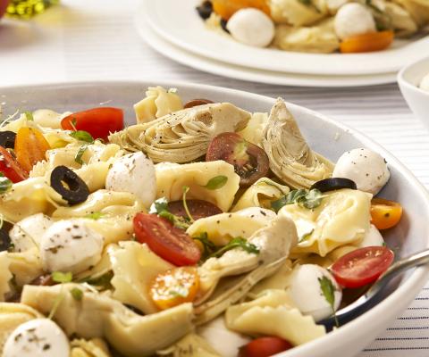 Tortellini Salad with Marinated Fresh Mozzarella - Galbani Cheese